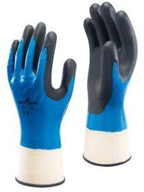 SHOWA 377 Liquid,Oil,General Handling Hazards Safety Hand Gloves KSA