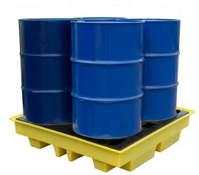 Romold BP4L Low Profile Four Drum Spill Pallet KSA