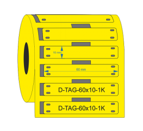 PUR Cable Tags 60mmX10mm Yellow KSA