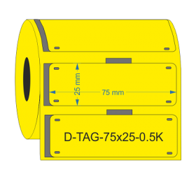 PUR Cable Tags 75mmX25mm Yellow KSA
