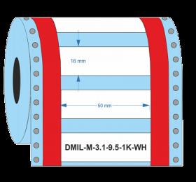 D-Identify DMIL-M-3:1-9.5-1K-WH Heat Shrink Sleeves