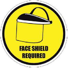 Face Shield Required Floor Sign Saudi Arabia