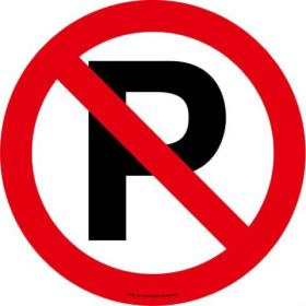 No Parking ( Symbol) EWM102 430mm Floor Markers & Safety Signs KSA