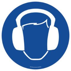 Heskins EWM028 Ear Protection Blue 430mm Floor Markers & Safety Signs