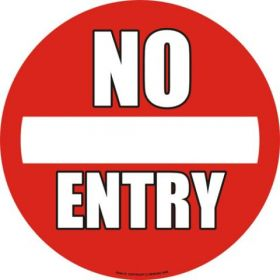 No Entry 430mm Floor Markers & Safety Signs KSA