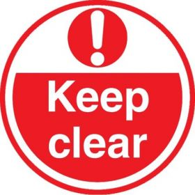 Keep Clear ( Red) FLS17 ​450mm Floor Markers & Safety Signs KSA