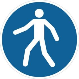 Pedestrians This Way M024 ​430mm Floor Markers & Safety Signs KSA