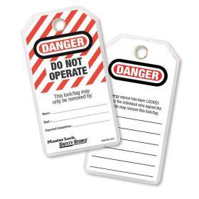 Model No. 497A   Safety Tags   Master Lock KSA