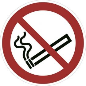 No Smoking P002 430mm Floor Markers & Safety Signs KSA