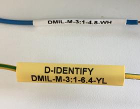 D-Identify DMIL-M-3:1-2.4-1K-WH Heat Shrink Sleeves