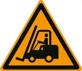 Danger Forklift Trucks W014 430mm Floor Markers & Safety Signs KSA
