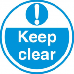 Keep Clear FLS18 450mm Floor Markers & Safety Signs KSA