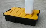 Jonesco ST1-20-B-BK 20 Litre Spill/Drip Tray with Yellow Platform UAE KSA
