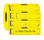 PUR Cable Tags 75mmX15mm Yellow KSA