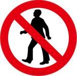 Pedestrians Prohibited ( Symbol) EWM114 430mm Floor Markers & Safety Signs KSA