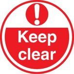 Keep Clear ( Red) FLS17 450mm Floor Markers & Safety Signs KSA