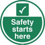 Safety Starts Here FLS25 450mm Floor Markers & Safety Signs KSA