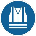 Safety Vest Must Be Worn M015 430mm Floor Markers & Safety Signs KSA