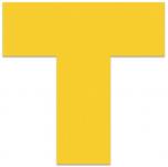 "FLEX Floor Marking Ts 6"" x 6""  Yellow KSA"